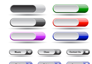382x266 Collection Of Web Button Vector 02 Free Download