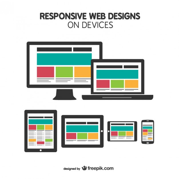 626x626 Responsive Web Design On Devices Vector Free Download