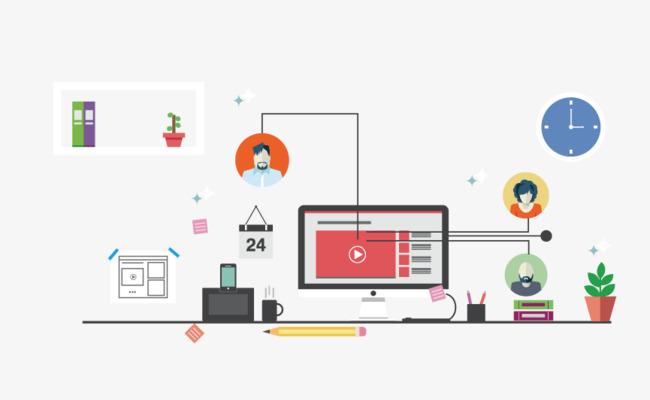 650x400 Web Design Icon Background, Web Vector, Icon Vector, Creative