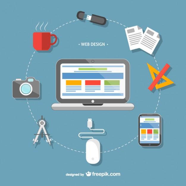 626x626 Web Design Tools Vector Free Download