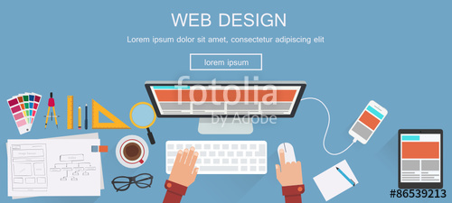 500x225 Flat Designed Banners For Web Design. Vector Stock Image And