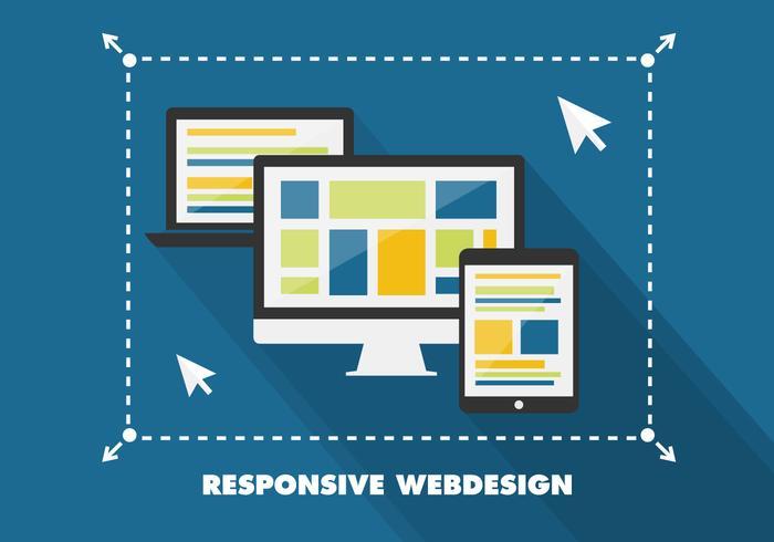 700x490 Free Flat Responsive Web Design Vector Background