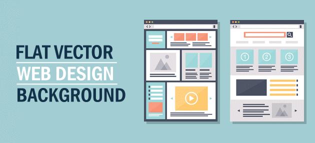 630x286 Free Flat Vector Web Design Background