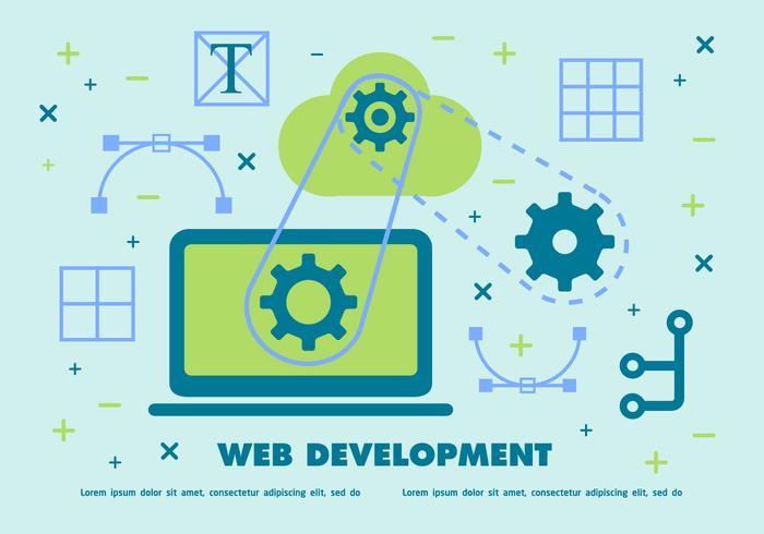 700x490 Web Development Vector Background