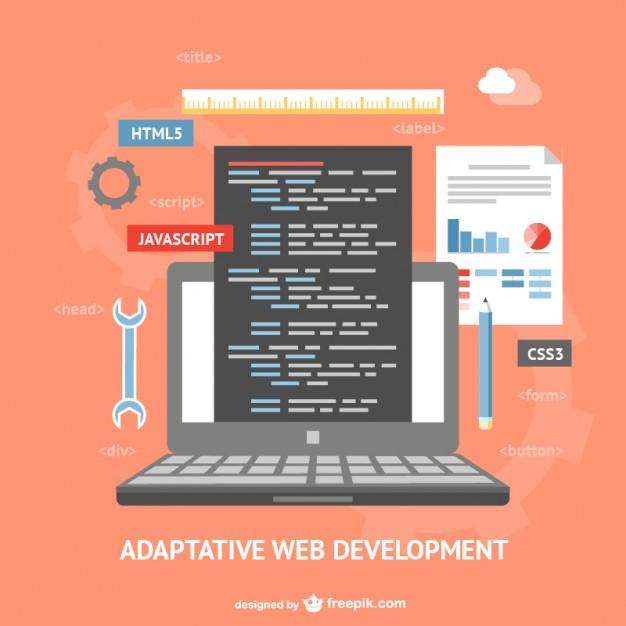 626x626 Adaptative Web Development Vector Vector Free Download