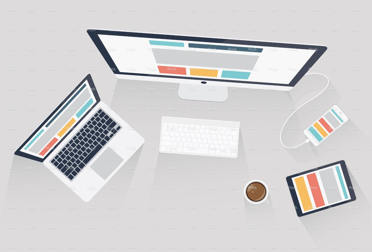 1235x839 Stock Illustration 53756232 Responsive Web Design And Web