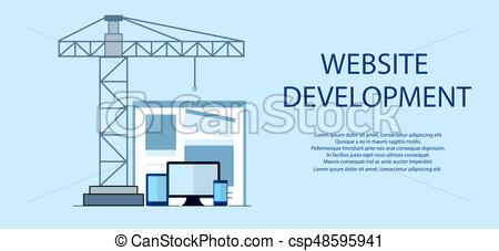 450x227 Flat Design Of Website Under Construction, Web