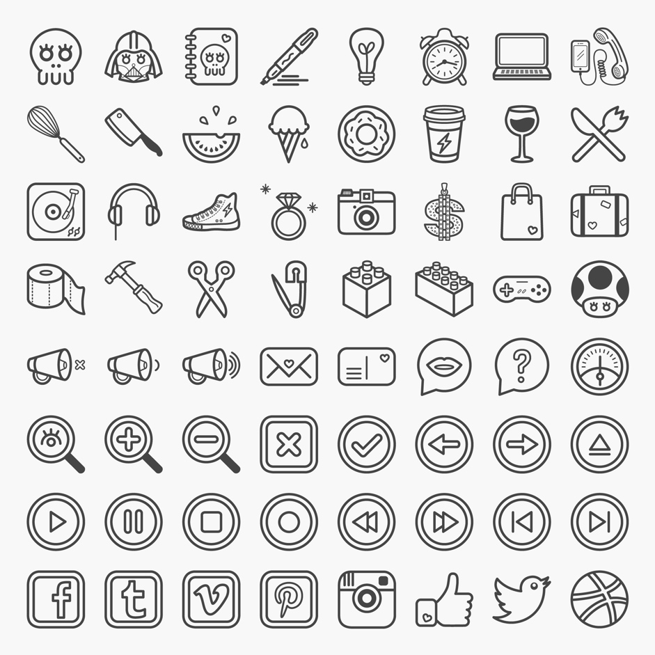 941x941 Great Collection Of Free Vector Icons And Pictograms For