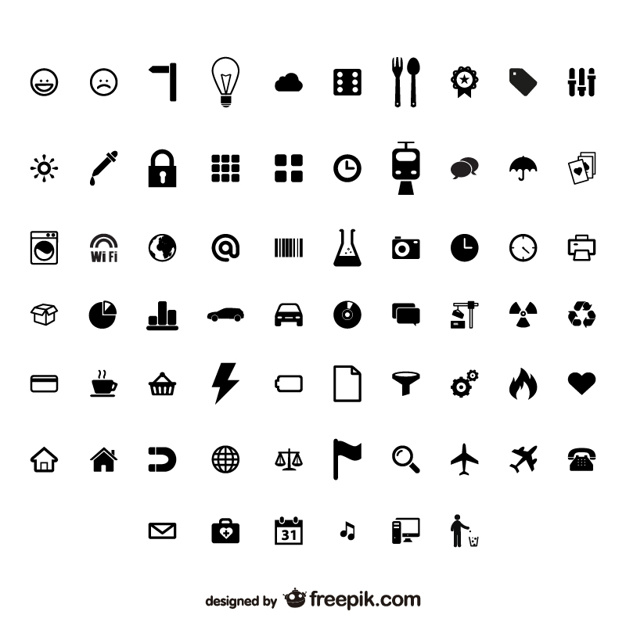 626x626 Great Web Icons Collection Vector Free Download