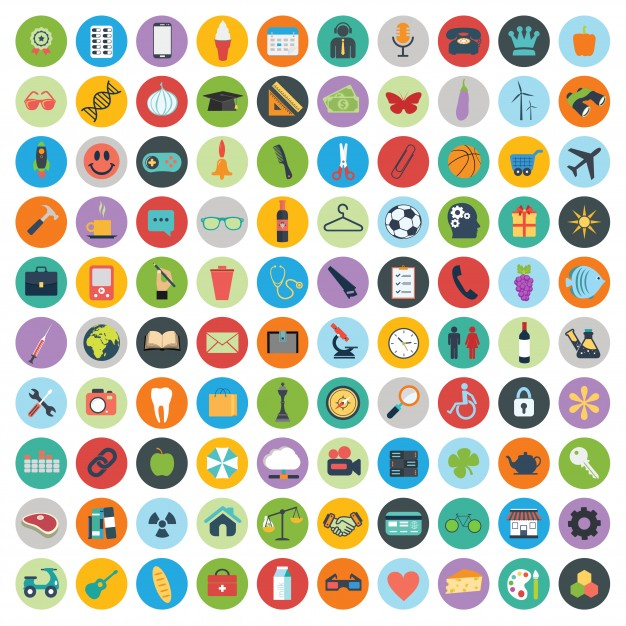 626x626 Set Of Web And Technology Development Icons Vector Free Download