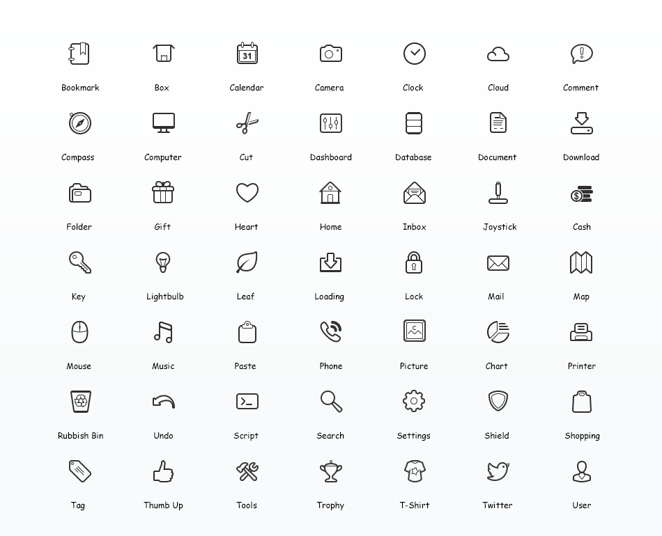 950x770 Simplicity Vector Icon Set Web Icon Set