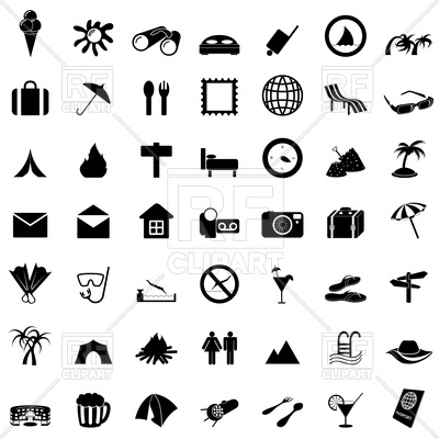 400x400 Travel And Tourism Web Icons Vector Image Vector Artwork Of