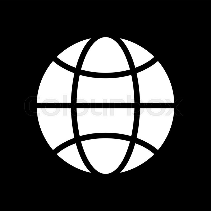 800x800 Vector Black And White Globe Icon. Global Design Concept. Globe