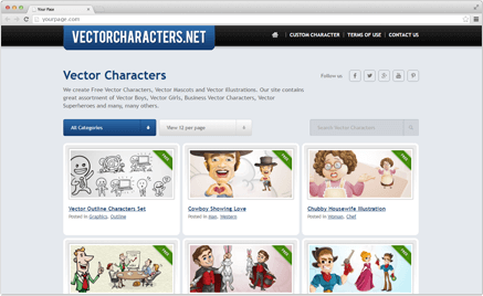 437x268 16 Great Sources For Free Vector Cartoon Characters Graphicmama Blog