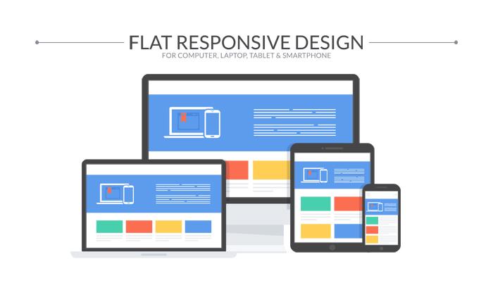 700x422 Flat Responsive Design Computer Vectors And Shapes
