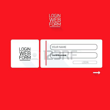 450x450 Vector Login Website Template Flat Design Website Login Form