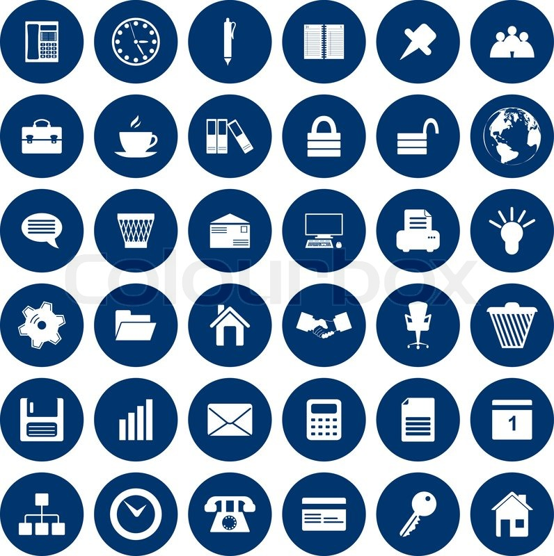 796x800 Business And Office Set Of Different Vector Web Icons Stock