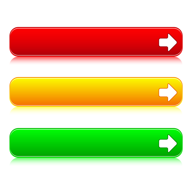 600x600 Color Web Buttons Vector 02 Free Download