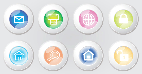 598x312 Free Web Buttons Free Vector 123freevectors