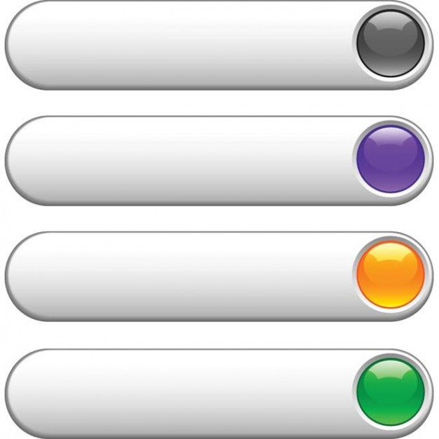 626x626 Gray Website Buttons With Glossy Colors
