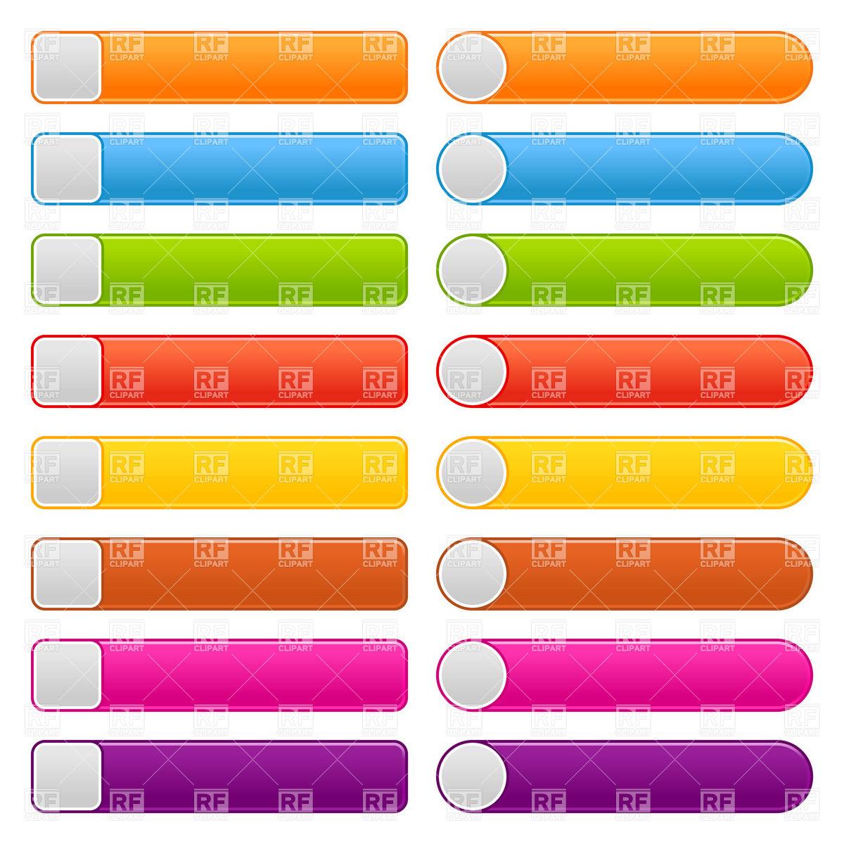 1200x1200 Simple Long Web Button Blank Templates Vector Image Vector
