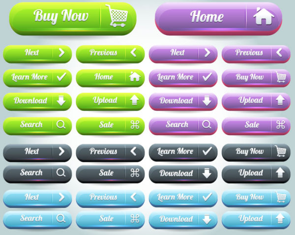 600x478 Web Buttons Vector Material Three
