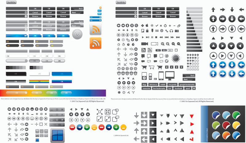 800x467 16 Free Vector Website Buttons Images