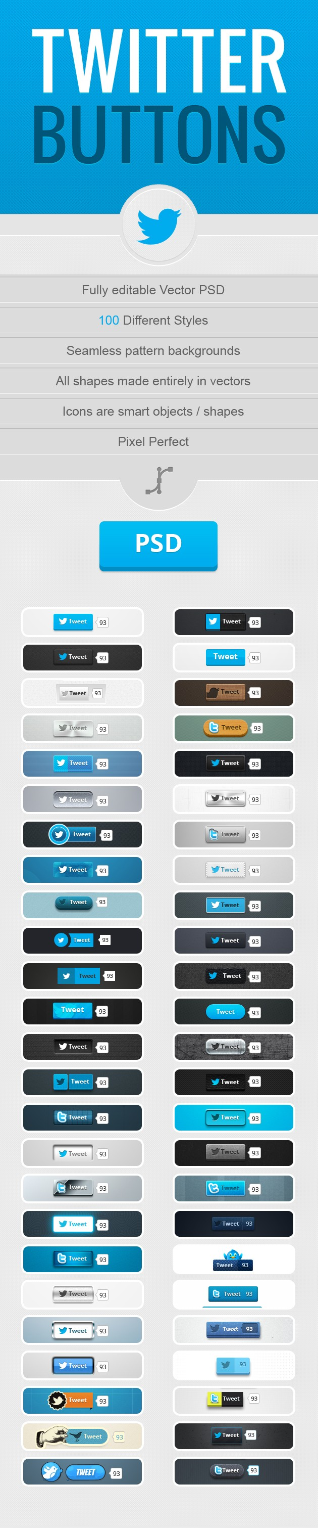 630x3022 600 Twitter Buttons Fully Editable Vector Psd Freebie