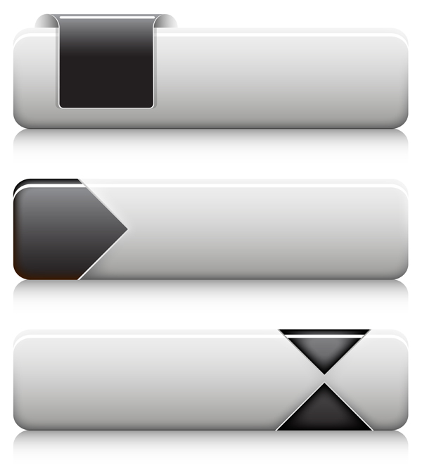 600x661 Black And White Buttons Vectors Free Download
