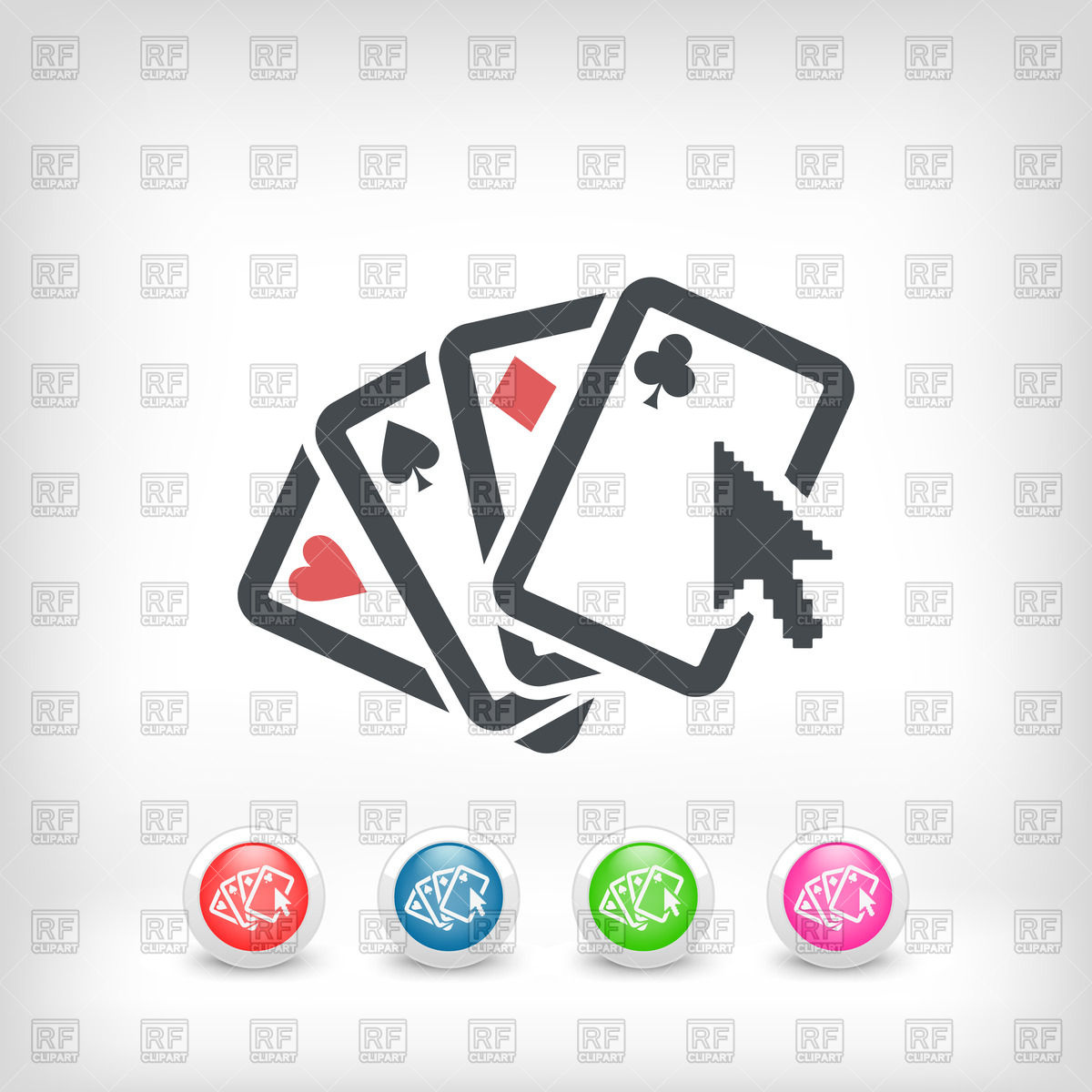 1200x1200 Poker Website Icon Vector Image Vector Artwork Of Sport And