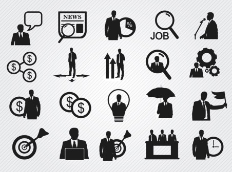 452x336 20 Black Business Icon Vector Icons Free 20 Black Business Icon Vector