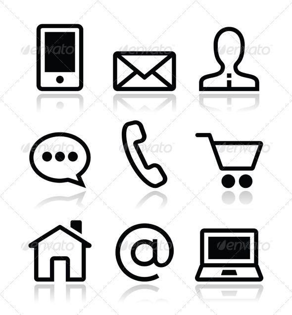 590x637 Website Icon Vector Contact Web Vector Icons Set