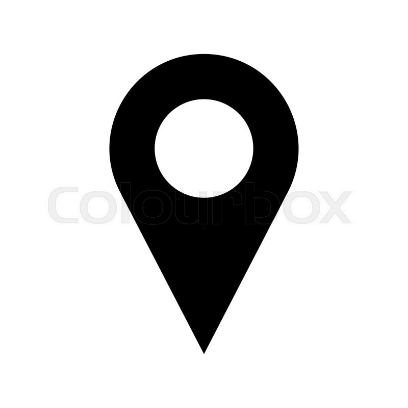 800x800 Black And White Vector Pinpoint Icon Isolated On White Background