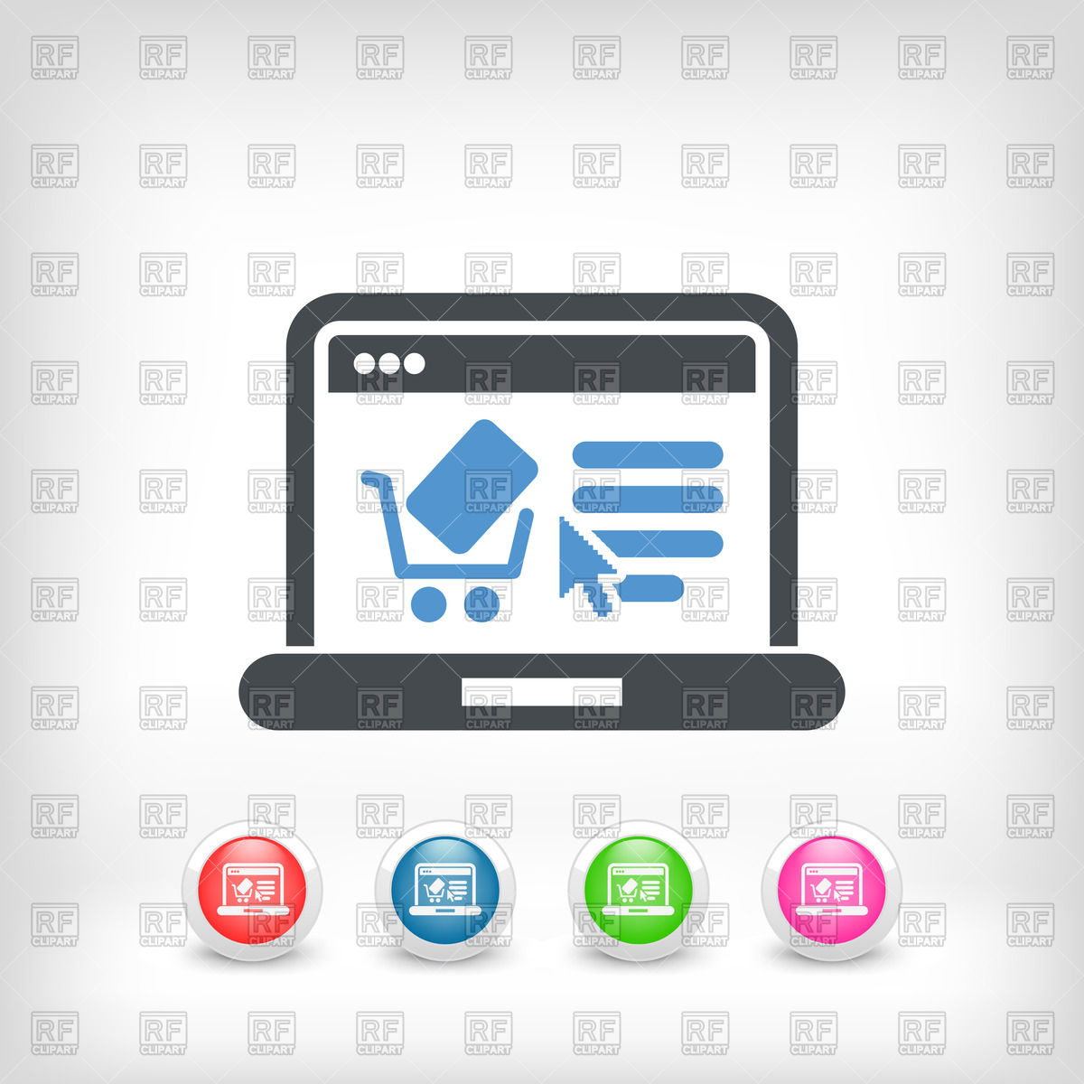 1200x1200 E Commerce Website Icon Vector Image Vector Artwork Of Icons And