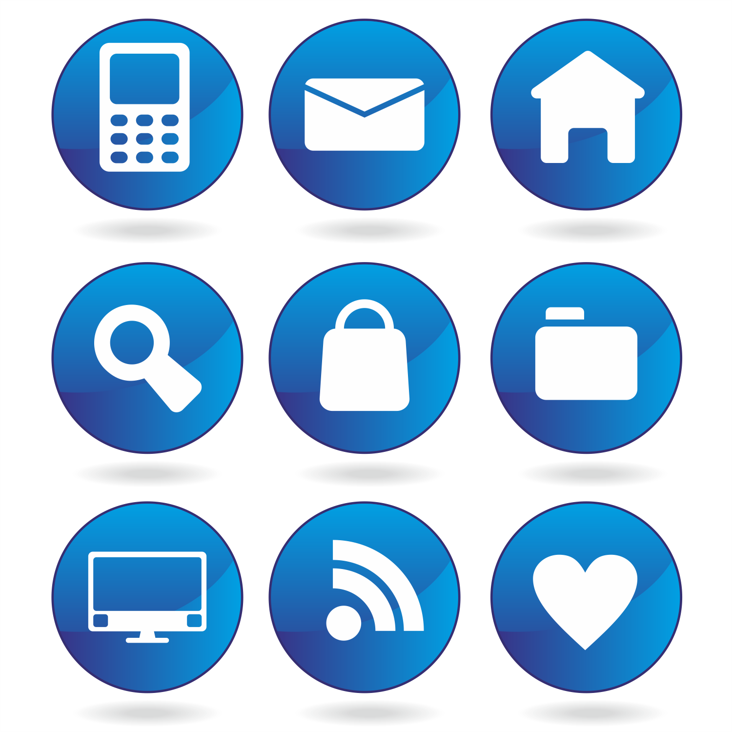 1500x1500 Vector For Free Use Blue Web Icons
