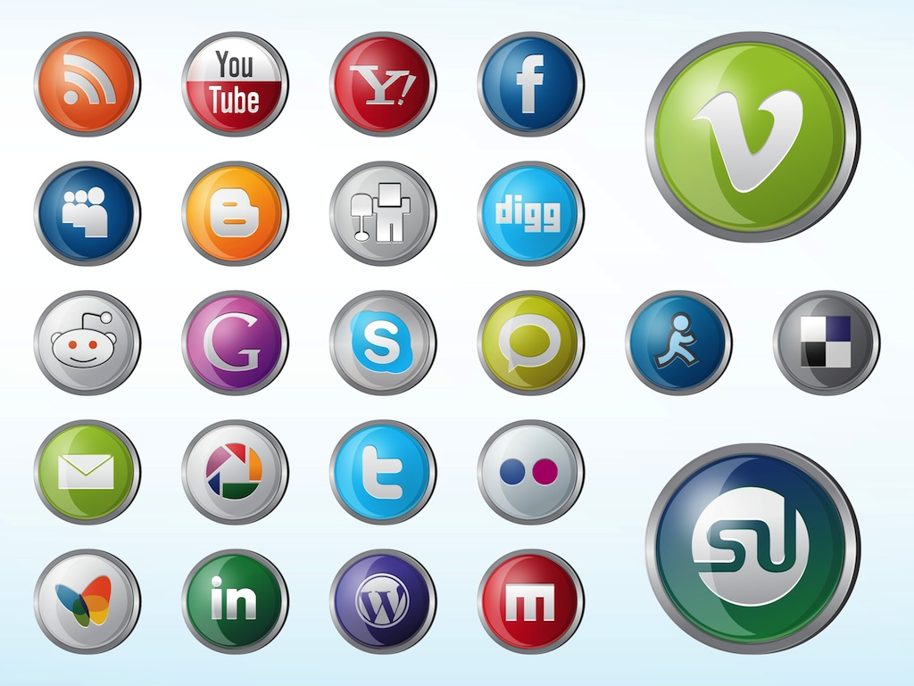 1024x769 Glossy Website Icons Vector Art Amp Graphics