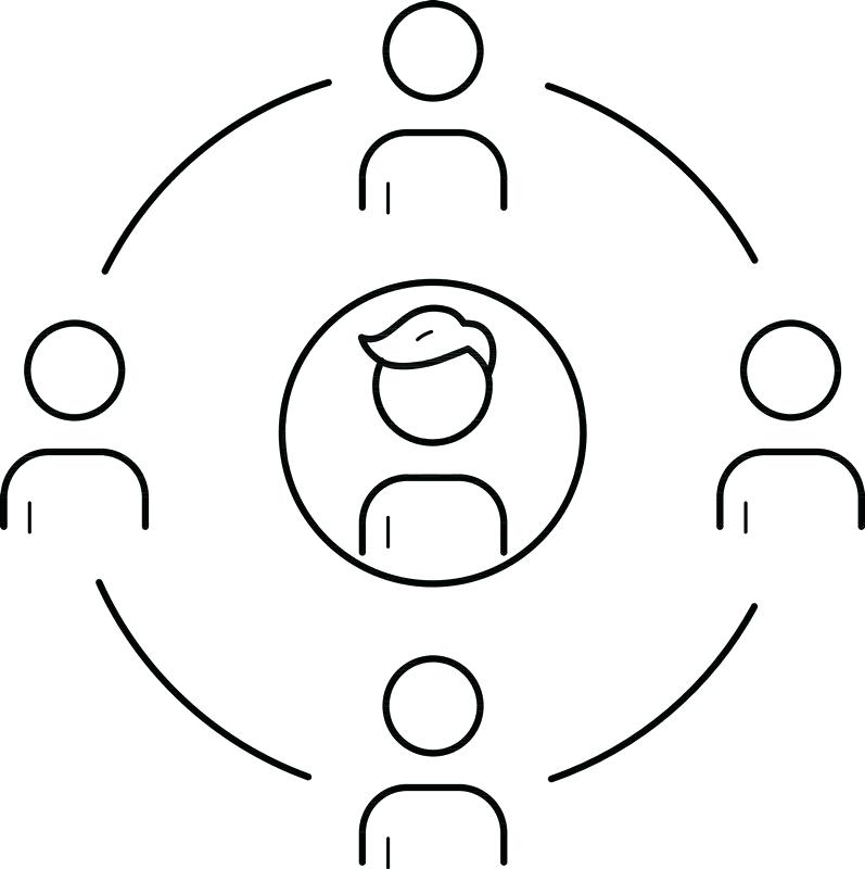 797x800 On Symbol Circle Or Line Family Circle Vector Line Icon Isolated