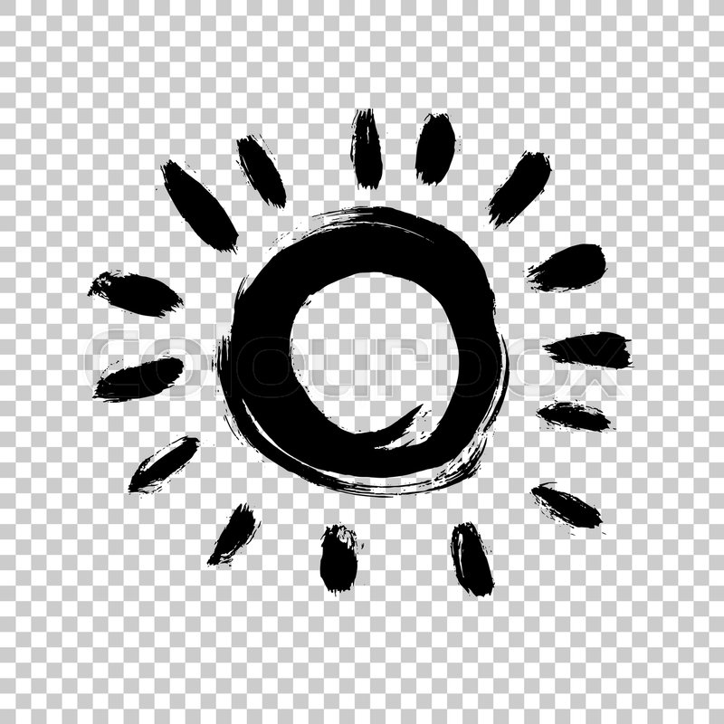 800x800 Painted Sun Icon. Yellow Colour. Grunge Design Element For Weather