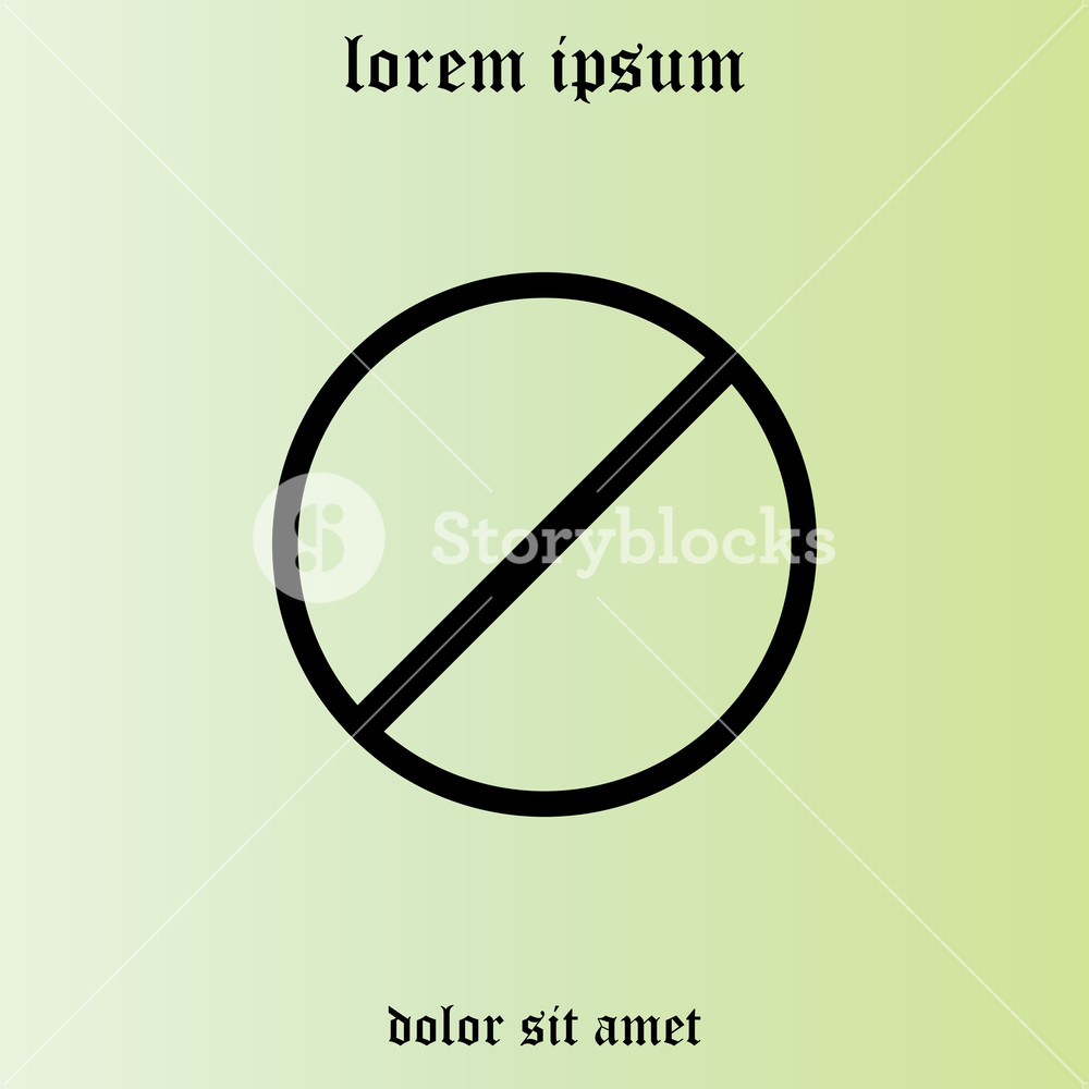 1000x1000 Restricted Icon, Vector Design Website Royalty Free Stock Image