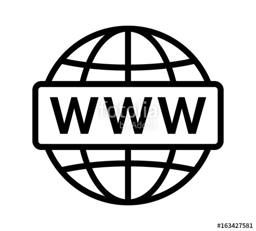 500x450 Visit Internet Online Or World Wide Web Www Line Art Vector Icon