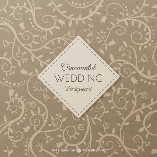 626x626 Ornamental Wedding Background Vector Free Download