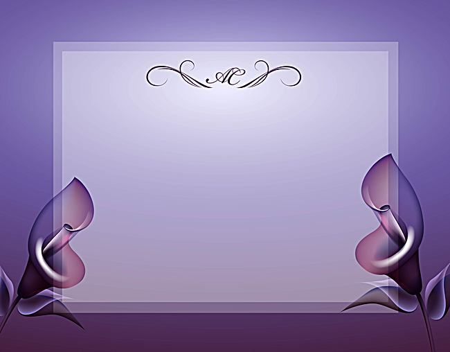650x508 Vector European Retro Wedding Background Shading Calla, Vector