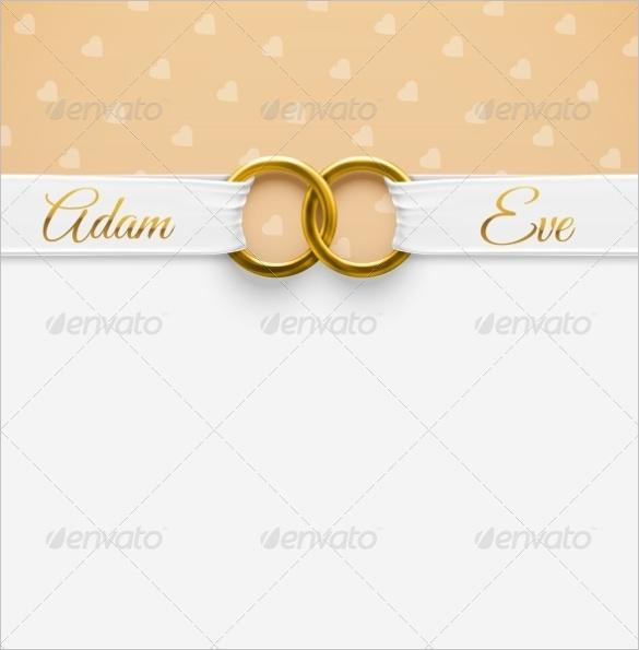 585x595 Wedding Invitation Card Background Vector Elegant 61 Wedding