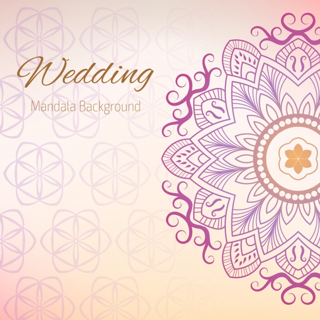 626x626 Wedding Background With Mandala Design Vector Free Download