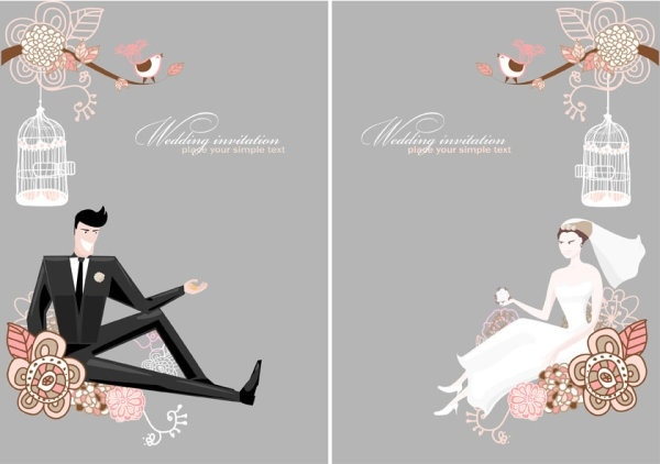 600x422 Fine Line Of Wedding Background Draft 01 Vector Free Vector In
