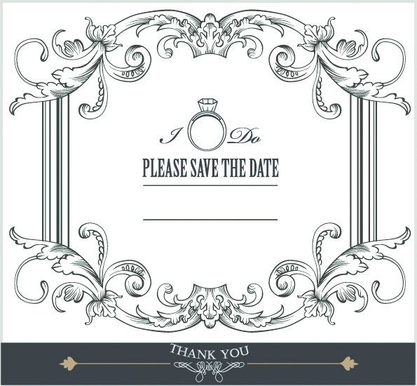 595x550 Europeanstyle Lace Border 05 Vector Free Vector 4vector