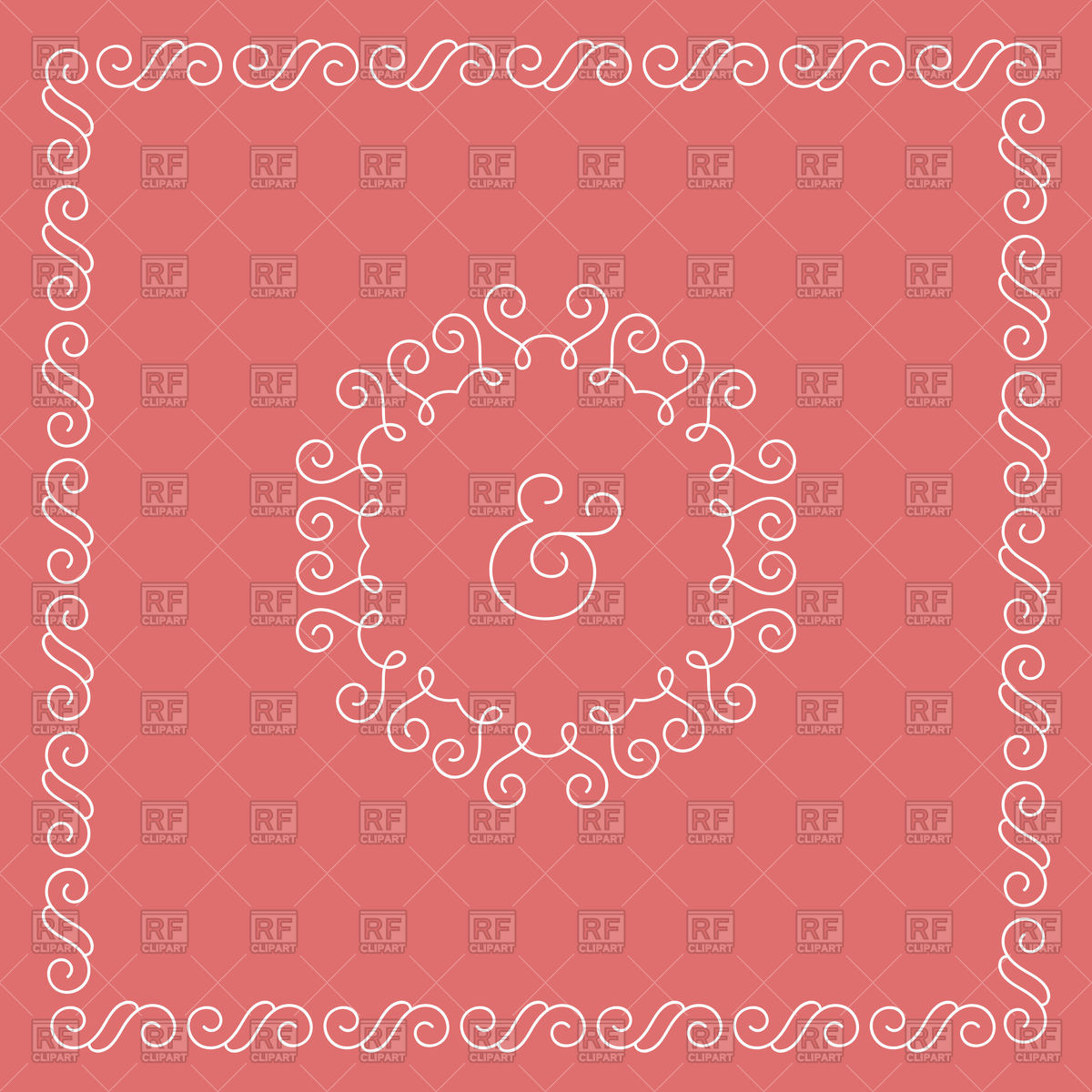 1200x1200 Template Of Wedding Invitation Or Celebrate Card