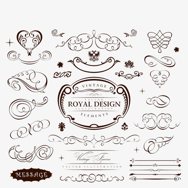 650x650 Vector Wedding Border, Wedding Vector, Border Vector, Retro Png