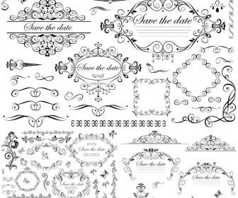 336x280 Wedding Decorative Frames And Borders Vector Vector Graphics Blog