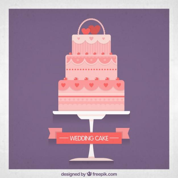 626x626 Pink Wedding Cake Vector Free Download
